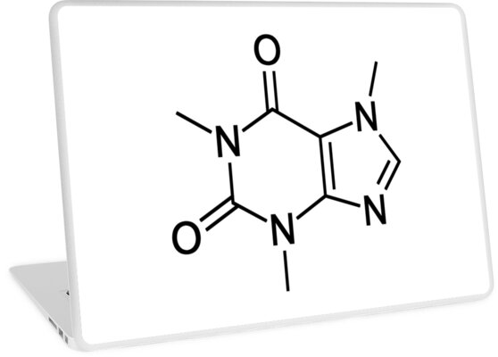 Caffeine Chemical Structure Caffeine Chemistry Coffee Laptop