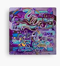 Hexagram 51: Zhèn (Thunder-Shock) Canvas Print