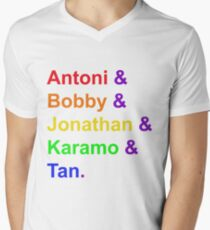 Fab Five (Rainbow) Men's V-Neck T-Shirt