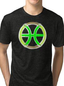 PISCIS SYMBOL GREEN Tri-blend T-Shirt
