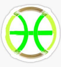 PISCIS SYMBOL GREEN Sticker