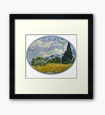 Art Wheat Field with Cypresses,Vincent van Gogh, 1889 Framed Print