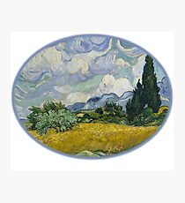 Art Wheat Field with Cypresses,Vincent van Gogh, 1889 Photographic Print