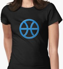 PISCIS SYMBOL BLUE Women's Fitted T-Shirt