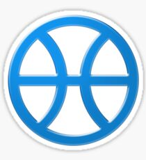 PISCIS SYMBOL BLUE Sticker