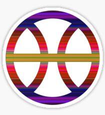 PISCIS SYMBOL RAINBOW Sticker