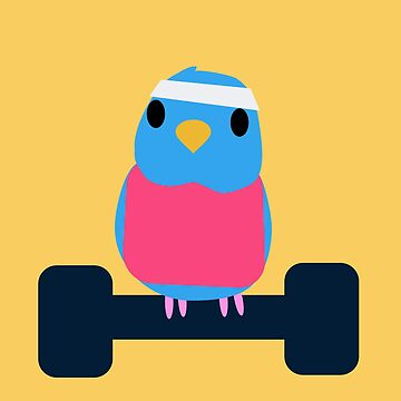 Workout Budgie by parakeetart