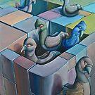 Pigeons by Byron  McBride