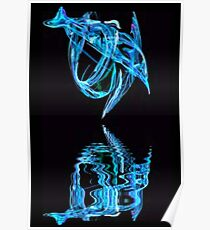 Dolphin with Reflection, Poster