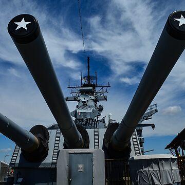 USS New Jersey Battleship 16 Inch Guns by lookherelucy