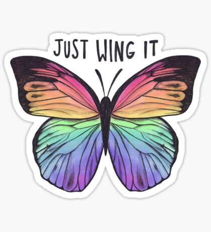 Just Wing It  Sticker