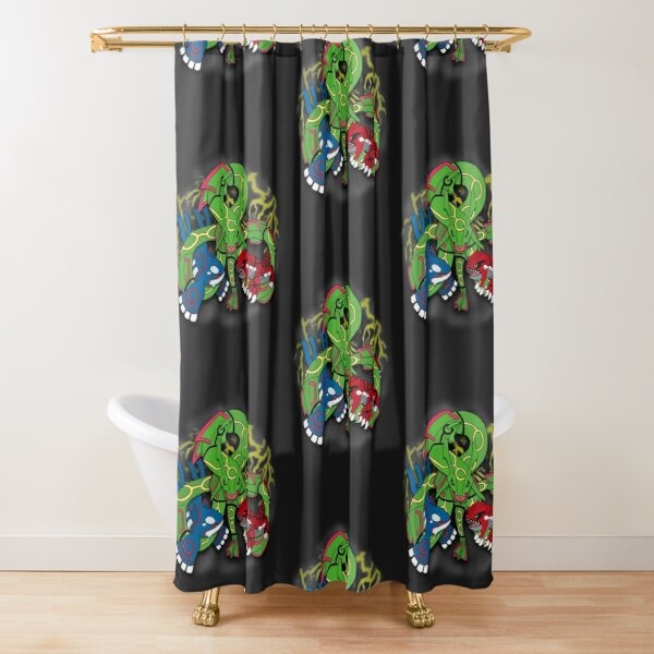 Rayquaza, Kyogre, & Groudon - Hoenn Remake Ahoy! Shower Curtain