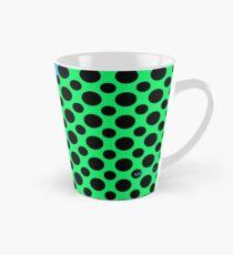 Blue Green Black Dot Color Block Tall Mug