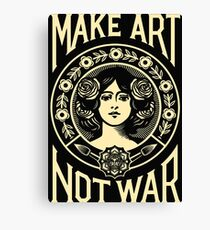 Make Art Not War Slogan Canvas Print