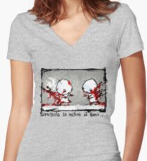 Something Is Holding Us Back! Women's Fitted V-Neck T-Shirt
