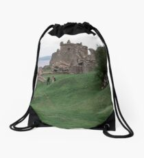 Urquhart Castle grounds Urquhart Bay Loch Ness Scotland 19840910 0004  Drawstring Bag