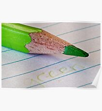 The Green Pencil Poster