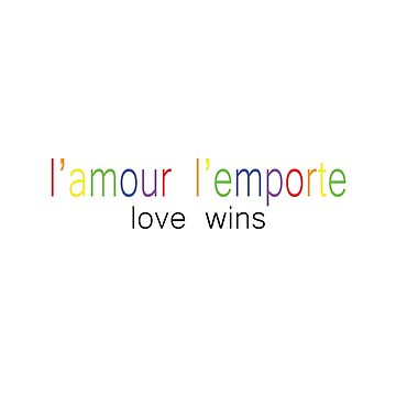 L'Amour L'Emporte (love wins) by TMdraws