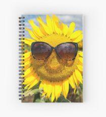 Happy Sunflower - Nobby, Australia Spiral Notebook