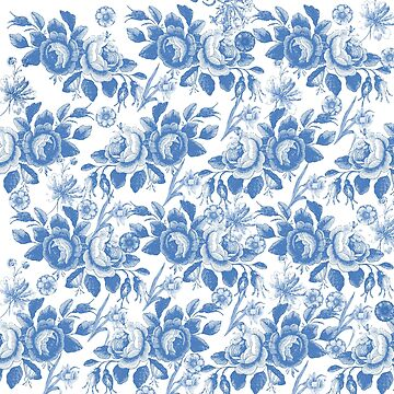 Blue Toile Pattern by Greenbaby