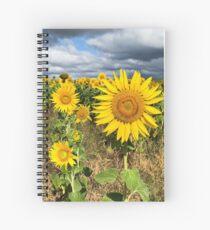 Sunflower Field - Nobby, Australia   Spiral Notebook