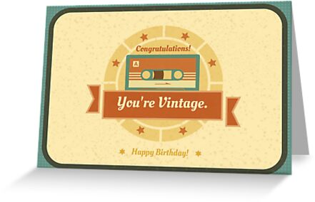 Congratulations Youre Vintage Funny Birthday Card Greeting Cards