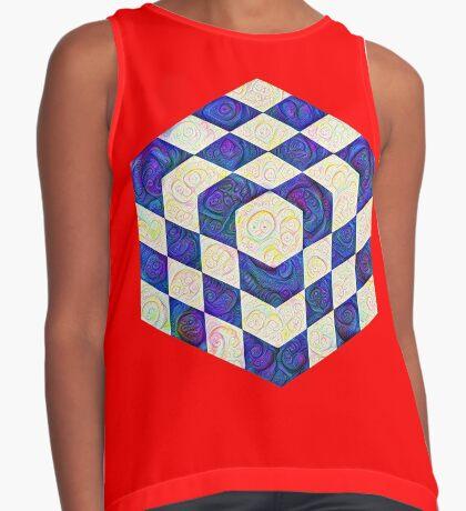 #DeepDream Color Squares Visual Areas 5x5K v1448964615 Sleeveless Top