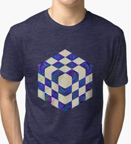 #DeepDream Color Squares Visual Areas 5x5K v1448964615 Tri-blend T-Shirt