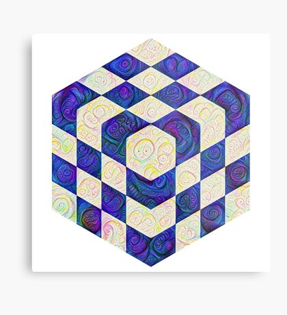 #DeepDream Color Squares Visual Areas 5x5K v1448964615 Metal Print