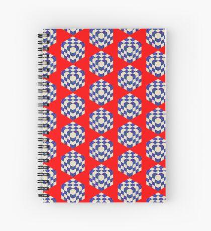 #DeepDream Color Squares Visual Areas 5x5K v1448964615 Spiral Notebook