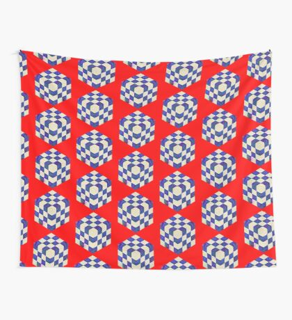 #DeepDream Color Squares Visual Areas 5x5K v1448964615 Wall Tapestry