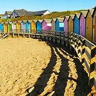 Bude beach cabins in Cornwall by hans p olsen