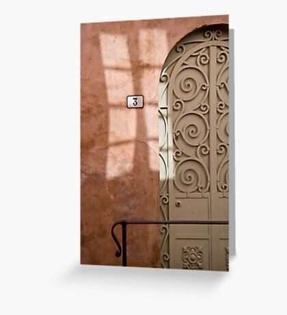 Door (and window) Greeting Card