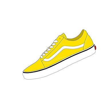 c45aaaf2996c Ochre   Yellow   White - Skate Sneakers by 74YLOR · Vans High Tops ...