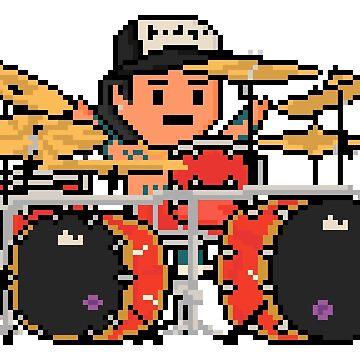 Rock Battle Pixel Cruezers Drummer by gkillerb