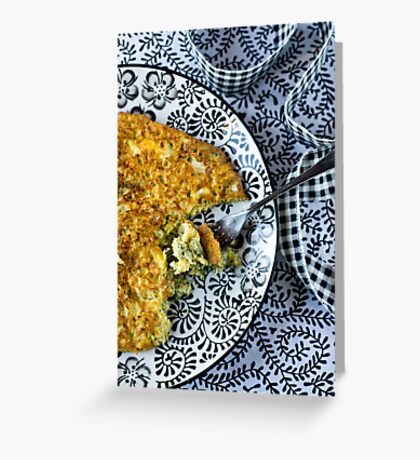 Frittata Greeting Card