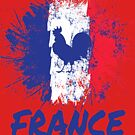 France Soccer Jersey Shirt Flag by 7United