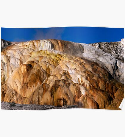 Mound Terrace at Mammoth Hot Springs Poster