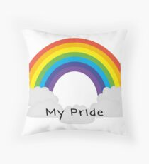 My Pride Rainbow  Throw Pillow