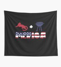 Cougar plus Barbeque Merica American Flag Tela decorativa