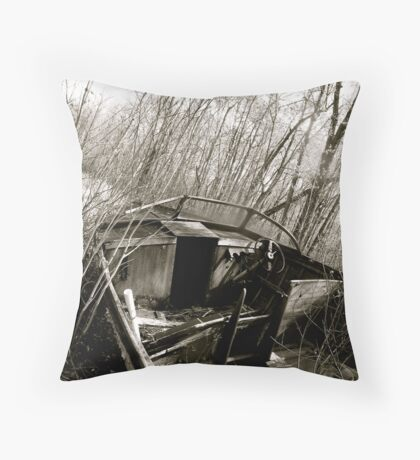 I Used to Go Fishing Throw Pillow