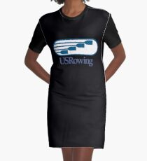 US Rowing Graphic T-Shirt Dress