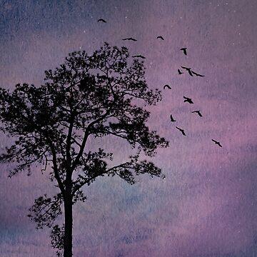 Sunday Evening, Purple Sky by Happyhead64