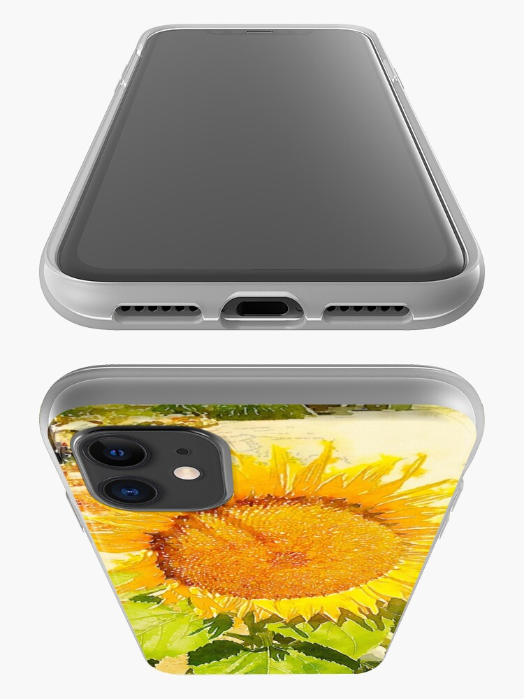 Alternate view of Sunflower in watercolor #2 iPhone Case & Cover