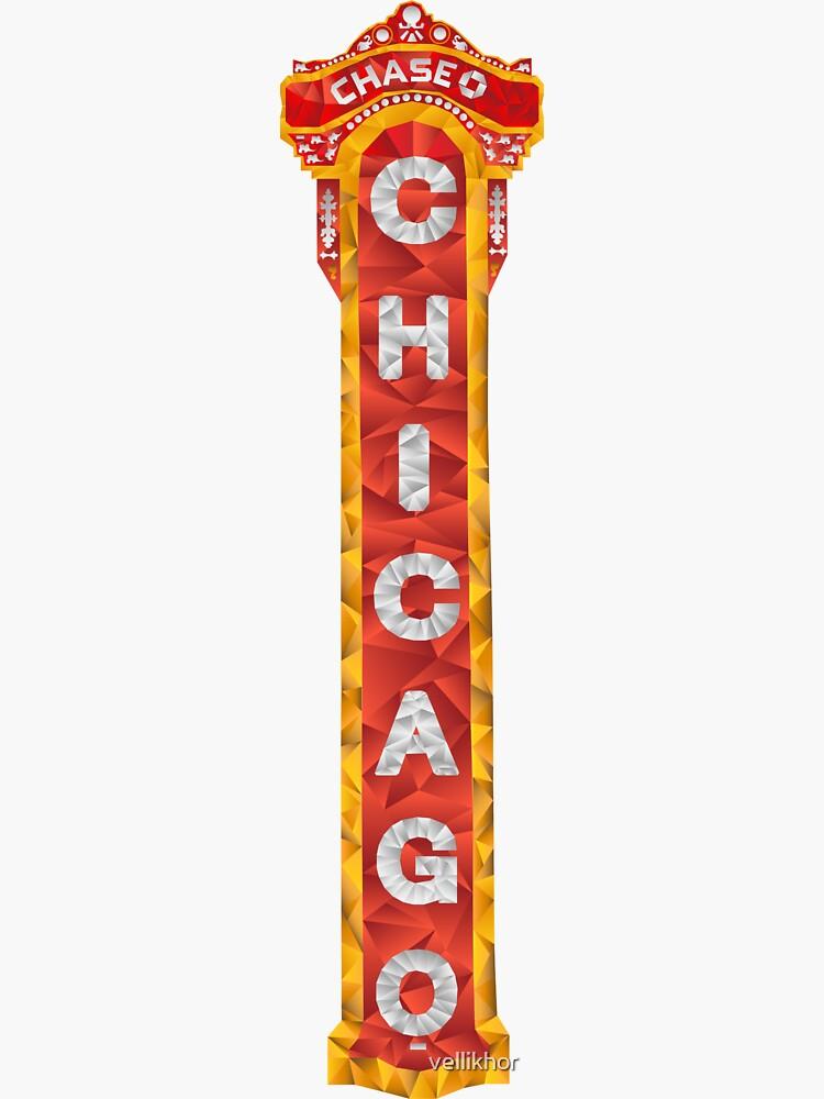 Signo de teatro de Chicago de vellikhor