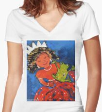 The princess and the frog Women's Fitted V-Neck T-Shirt