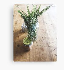 Cafe Table Condiments Canvas Print