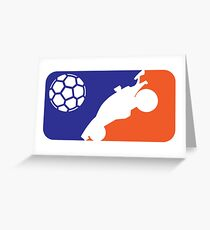 Major Car Soccer League Greeting Card