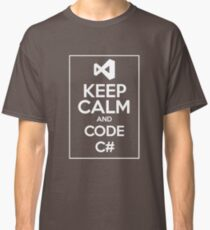 Keep Calm And Code C# light Classic T-Shirt
