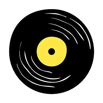 Vinyl Record Disc. Pop art. by ivector
